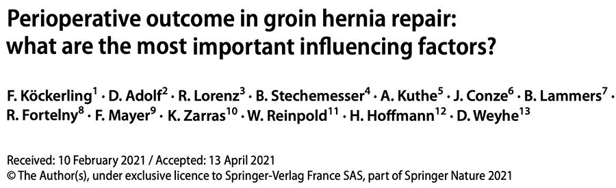 risk factors in inguinal hernia repair